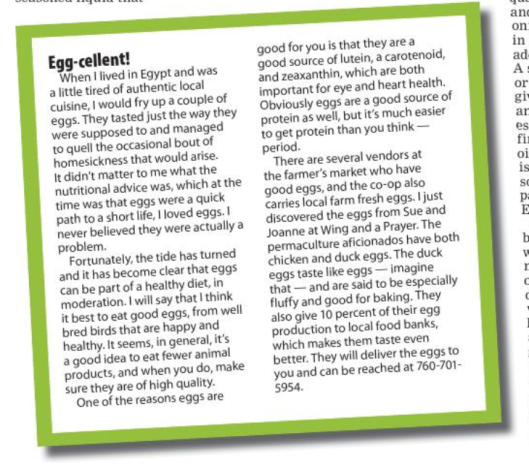 egg article