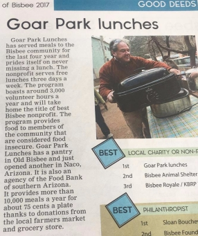 Goar Park Lunches